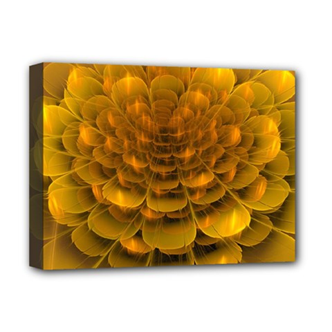 Yellow Flower Deluxe Canvas 16  X 12   by Simbadda
