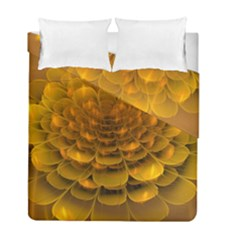 Yellow Flower Duvet Cover Double Side (full/ Double Size) by Simbadda