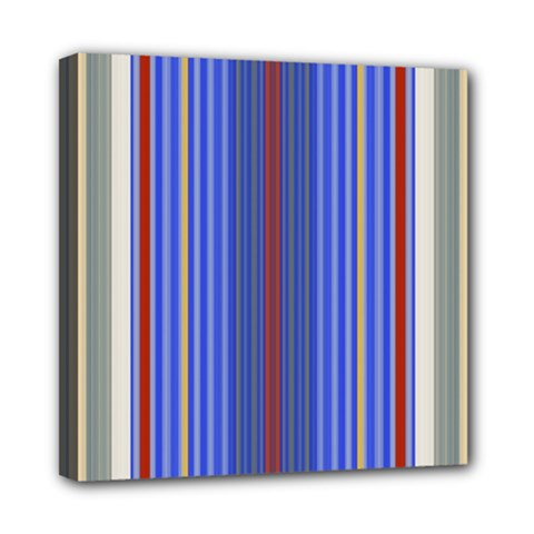 Colorful Stripes Mini Canvas 8  X 8  by Simbadda