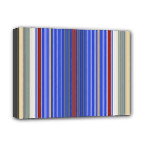 Colorful Stripes Deluxe Canvas 16  X 12   by Simbadda