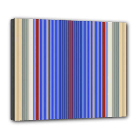 Colorful Stripes Deluxe Canvas 24  X 20   by Simbadda