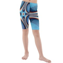 Fractal Beauty Kids  Mid Length Swim Shorts by Simbadda
