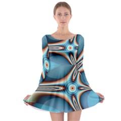 Fractal Beauty Long Sleeve Skater Dress