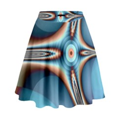 Fractal Beauty High Waist Skirt by Simbadda
