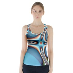 Fractal Beauty Racer Back Sports Top by Simbadda