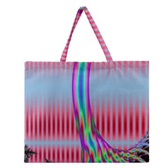 Fractal Tree Zipper Large Tote Bag by Simbadda