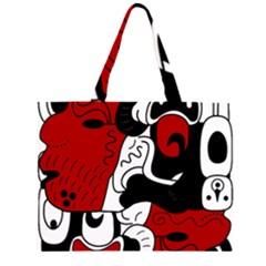 Mexico Zipper Large Tote Bag by Valentinaart