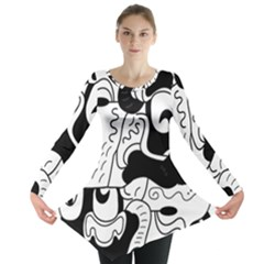 Mexico Long Sleeve Tunic  by Valentinaart