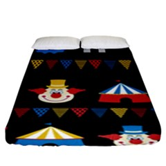 Circus  Fitted Sheet (king Size) by Valentinaart