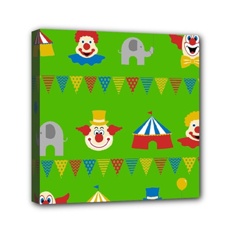 Circus Mini Canvas 6  X 6  by Valentinaart