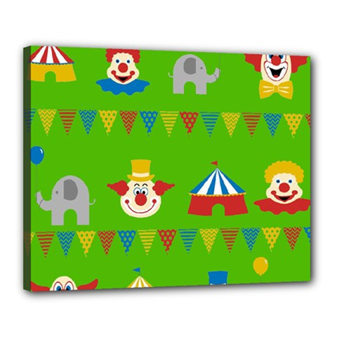 Circus Canvas 20  X 16  by Valentinaart