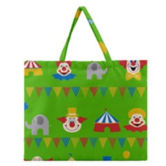 Circus Zipper Large Tote Bag by Valentinaart