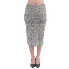 Silver Tropical Print Midi Pencil Skirt by dflcprintsclothing