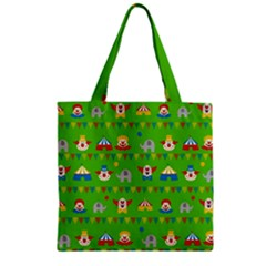 Circus Zipper Grocery Tote Bag by Valentinaart