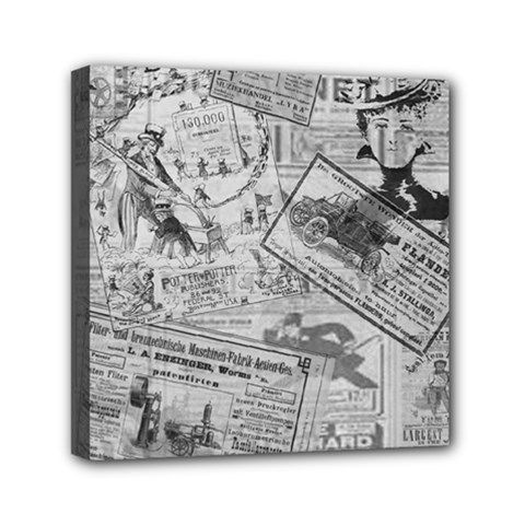 Vintage Newspaper  Mini Canvas 6  X 6  by Valentinaart