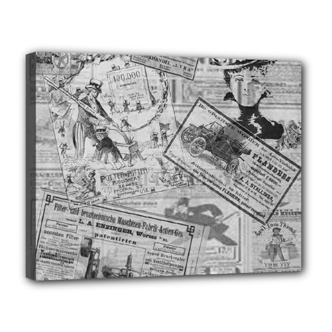 Vintage Newspaper  Canvas 14  X 11  by Valentinaart
