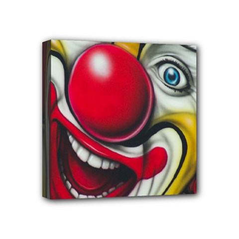 Clown Mini Canvas 4  X 4  by Valentinaart