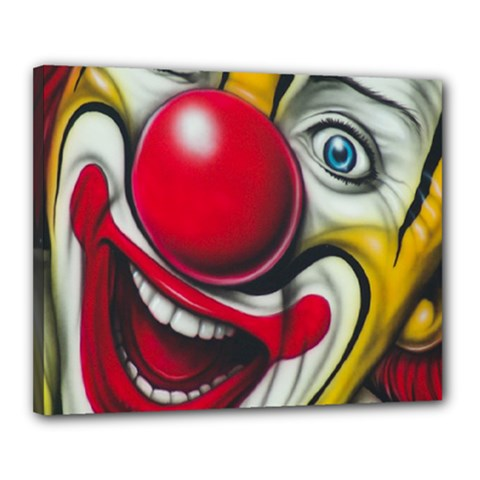 Clown Canvas 20  X 16  by Valentinaart