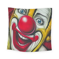 Clown Square Tapestry (small) by Valentinaart