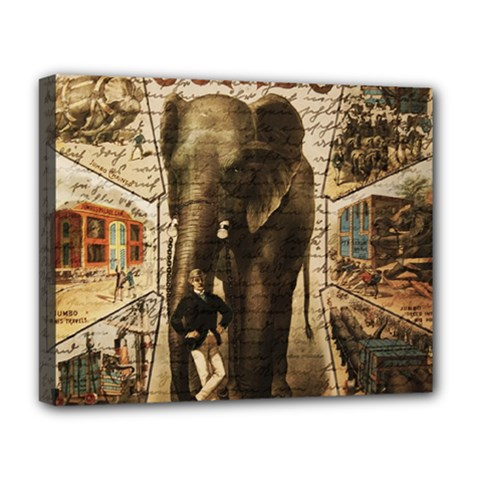 Vintage Circus  Deluxe Canvas 20  X 16   by Valentinaart