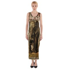 Vintage circus  Fitted Maxi Dress by Valentinaart