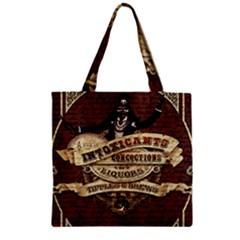 Vintage Circus  Zipper Grocery Tote Bag by Valentinaart