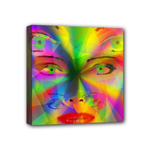 Rainbow Girl Mini Canvas 4  X 4  by Valentinaart