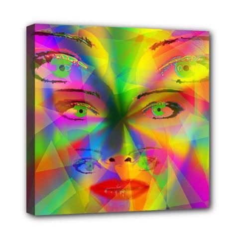 Rainbow Girl Mini Canvas 8  X 8  by Valentinaart