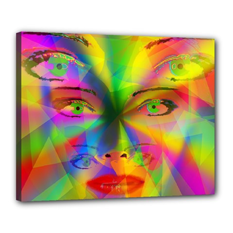 Rainbow Girl Canvas 20  X 16  by Valentinaart