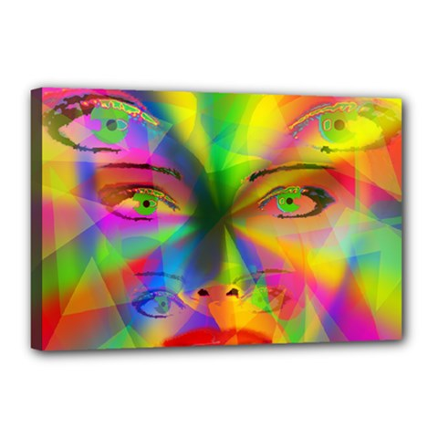 Rainbow Girl Canvas 18  X 12  by Valentinaart