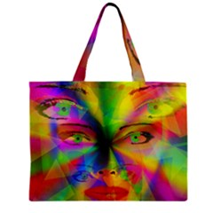 Rainbow Girl Zipper Mini Tote Bag by Valentinaart