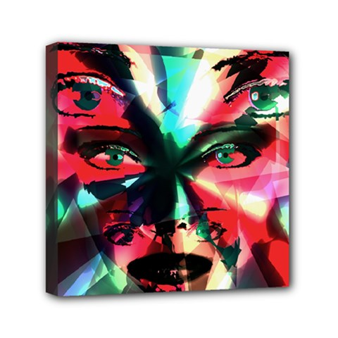 Abstract Girl Mini Canvas 6  X 6  by Valentinaart