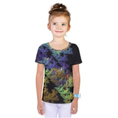 Fractal Forest Kids  One Piece Tee by Simbadda