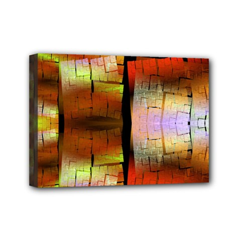 Fractal Tiles Mini Canvas 7  X 5  by Simbadda