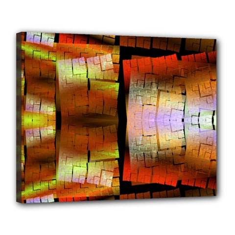 Fractal Tiles Canvas 20  x 16  by Simbadda