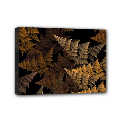Fractal Fern Mini Canvas 7  X 5  by Simbadda