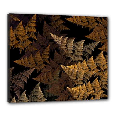 Fractal Fern Canvas 24  X 20  by Simbadda