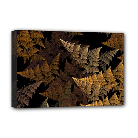 Fractal Fern Deluxe Canvas 18  X 12   by Simbadda