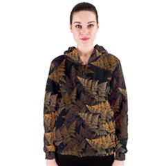 Fractal Fern Women s Zipper Hoodie by Simbadda