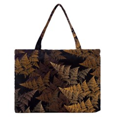 Fractal Fern Medium Zipper Tote Bag by Simbadda