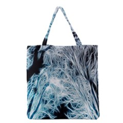 Fractal Forest Grocery Tote Bag by Simbadda