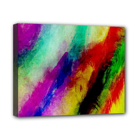 Abstract Colorful Paint Splats Canvas 10  X 8  by Simbadda