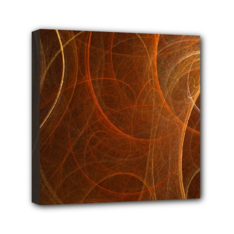 Fractal Color Lines Mini Canvas 6  X 6  by Simbadda