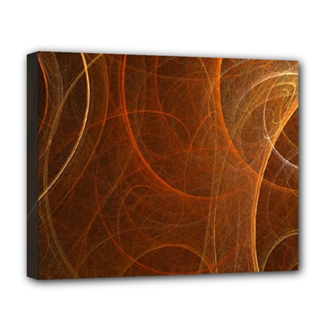 Fractal Color Lines Deluxe Canvas 20  X 16   by Simbadda