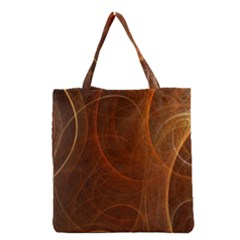 Fractal Color Lines Grocery Tote Bag by Simbadda