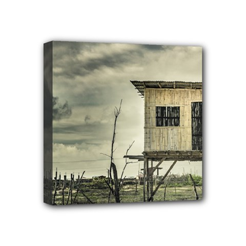 Traditional Cane House At Guayas District Ecuador Mini Canvas 4  X 4  by dflcprints