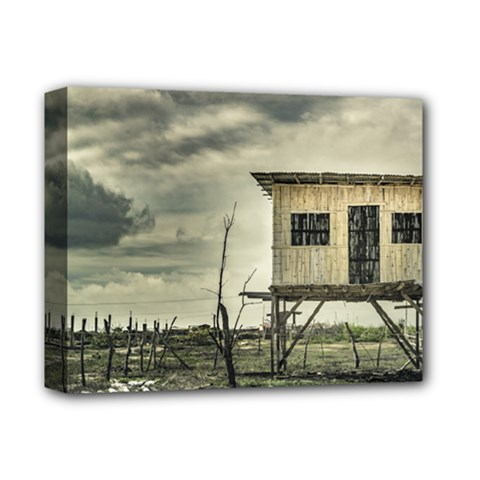 Traditional Cane House At Guayas District Ecuador Deluxe Canvas 14  X 11  by dflcprints