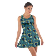 Peacock Hearts Cotton Racerback Dress