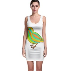 Bird Sleeveless Bodycon Dress by Valentinaart
