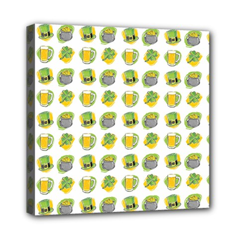St Patrick s Day Background Symbols Mini Canvas 8  X 8  by Simbadda